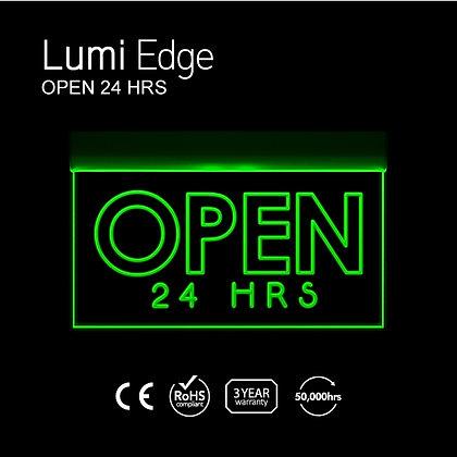 OPEN 24 HRS Lumi Edge Sign