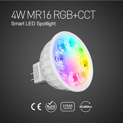 FUT104-4W MR16 RGB+CCT Smart LED Spotlight