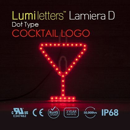 "Lumi Letters Lamiera Dot Type ""Cocktail Logo"""