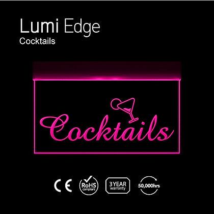 Cocktails Lumi Edge Sign