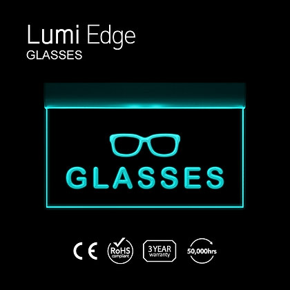 GLASSES Lumi Edge Sign