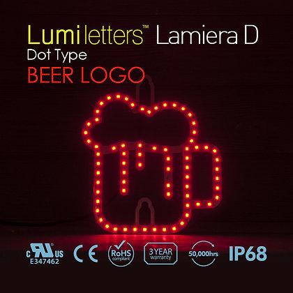 "Lumi Letters Lamiera Dot Type ""Beer Logo"""