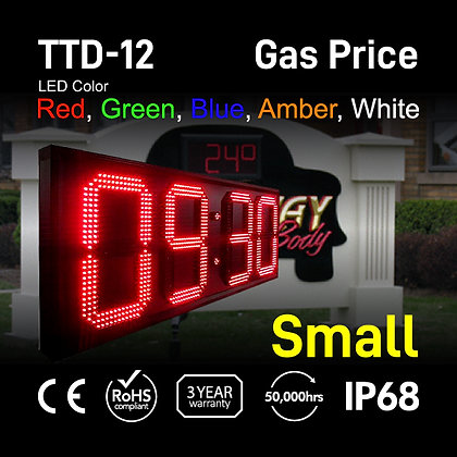 """12"""" High Outdoor LED TIME Temp Sign Digit LED electronic clock"""