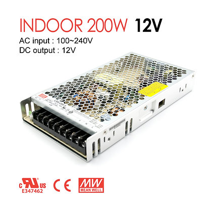MwanWell LED Driver Indoor 200W 12V 24V