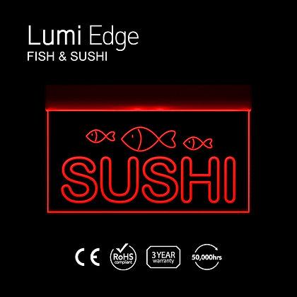 Fish & SUSHI Lumi Edge Sign