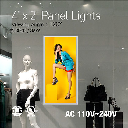 4' x 2' LED Panel Lights with Printing