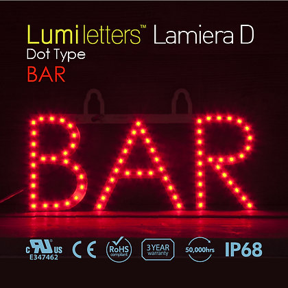 "Lumi Letters Lamiera Dot Type ""Bar"""