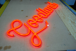 Red neon LED letters