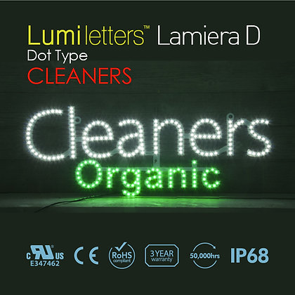 """Lumi Letters Lamiera Dot Type """"Cleaners"""""""