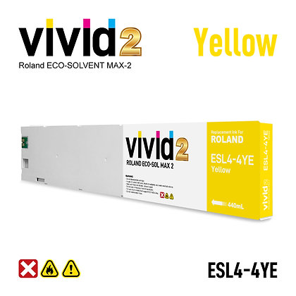 440ml Roland Eco Solvent MAX-2 Compatible Ink Cartridges Yellow