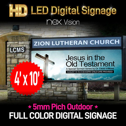 Outdoor HD LED Digital Signage 4' x 10'