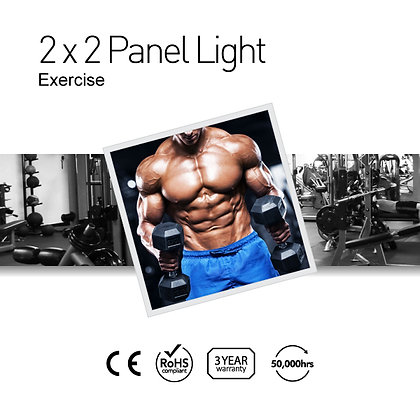 Exercise 2' x 2' LED Panel Lights with Printing