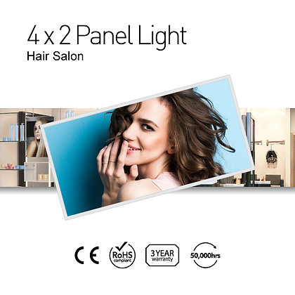 Hair Salon 4' x 2' LED Panel Lights with Printing