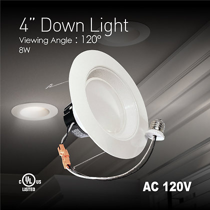 4 in. LED Downlight - 10 Watt - 65 Watt Equal - Halogen Match