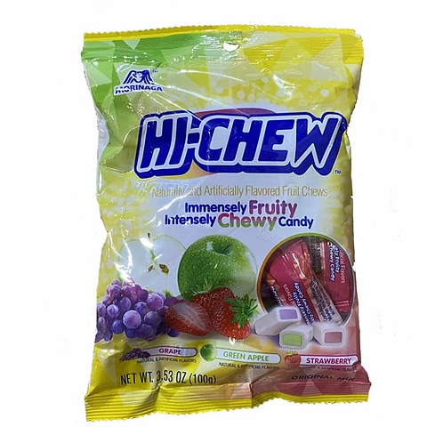 Hi-Chew Original Mix - Grape, Green Apple, Strawberry Flavor 3.53 oz