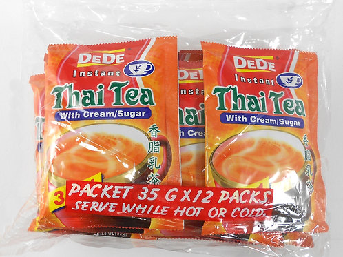 DeDe Instant Thai Tea 12 pack