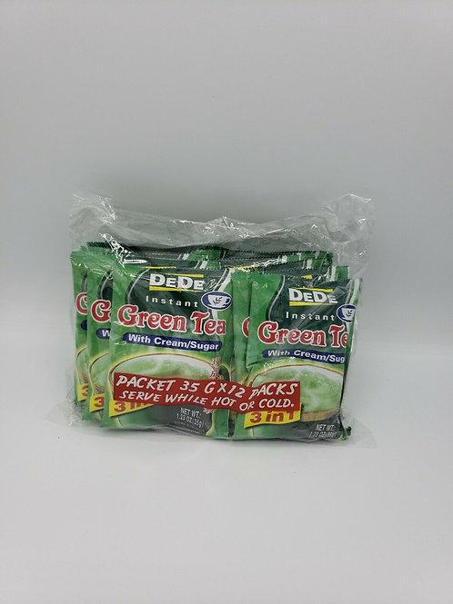 DeDe Instant Green Tea 12 Pack