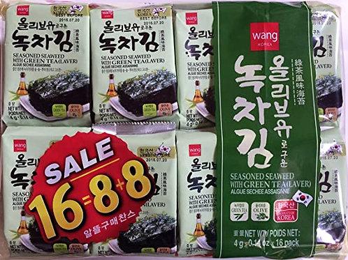 Wang Green Tea Seaweed 16pack