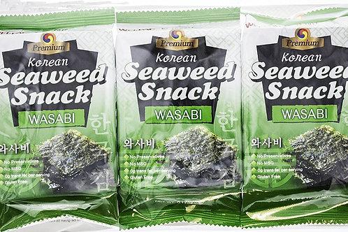 JB Seaweed Snack - Wasabi 3pck