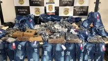 Mais de 75 mil produtos falsificados são apreendidos pela Polícia Civil no Brás