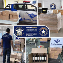 Federal Revenue carries out the largest operation in history to combat irregular entry of wines
