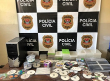 Civil Police seizes pirate material in Capivari