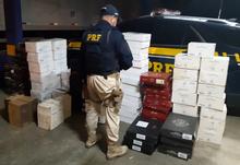 PRF apreende seis mil bolsas falsificadas e 585 garrafas de vinho