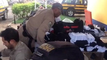 Domingo Espetacular desvenda esquema de contrabando de roupas falsificadas de marcas famosas