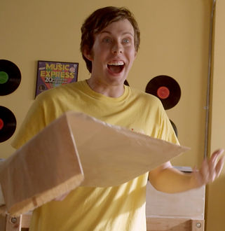 "Mitchell Sanford as Indie Nice Guy in ""Warmed-Over Krautrock"""