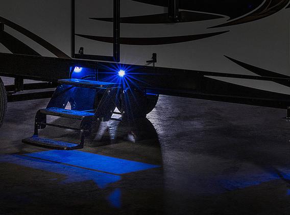 Blue LED Step Lighting