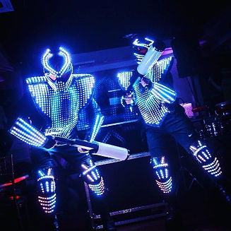 Lazer-show-LED-Robots-party-event-New-Yo