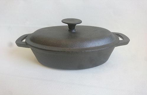 סיר בישול יציקה אובלי 2.5 ליטר+ מכסה