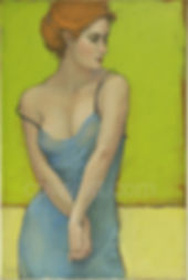 web The Blue Dress II 24x36 acrylic and