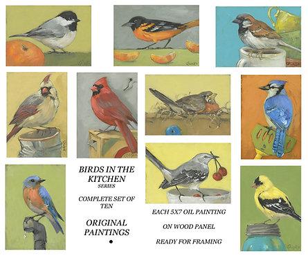 BIRDS IN THE KITCHEN series