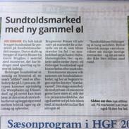 Artikel om den nye Sundtoldsøl august 2018