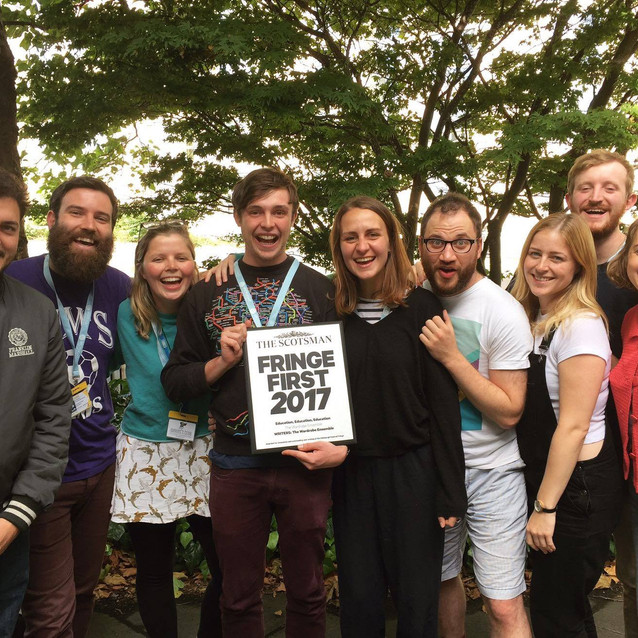 The company with our Fringe First for Education, Education, Education (2017)