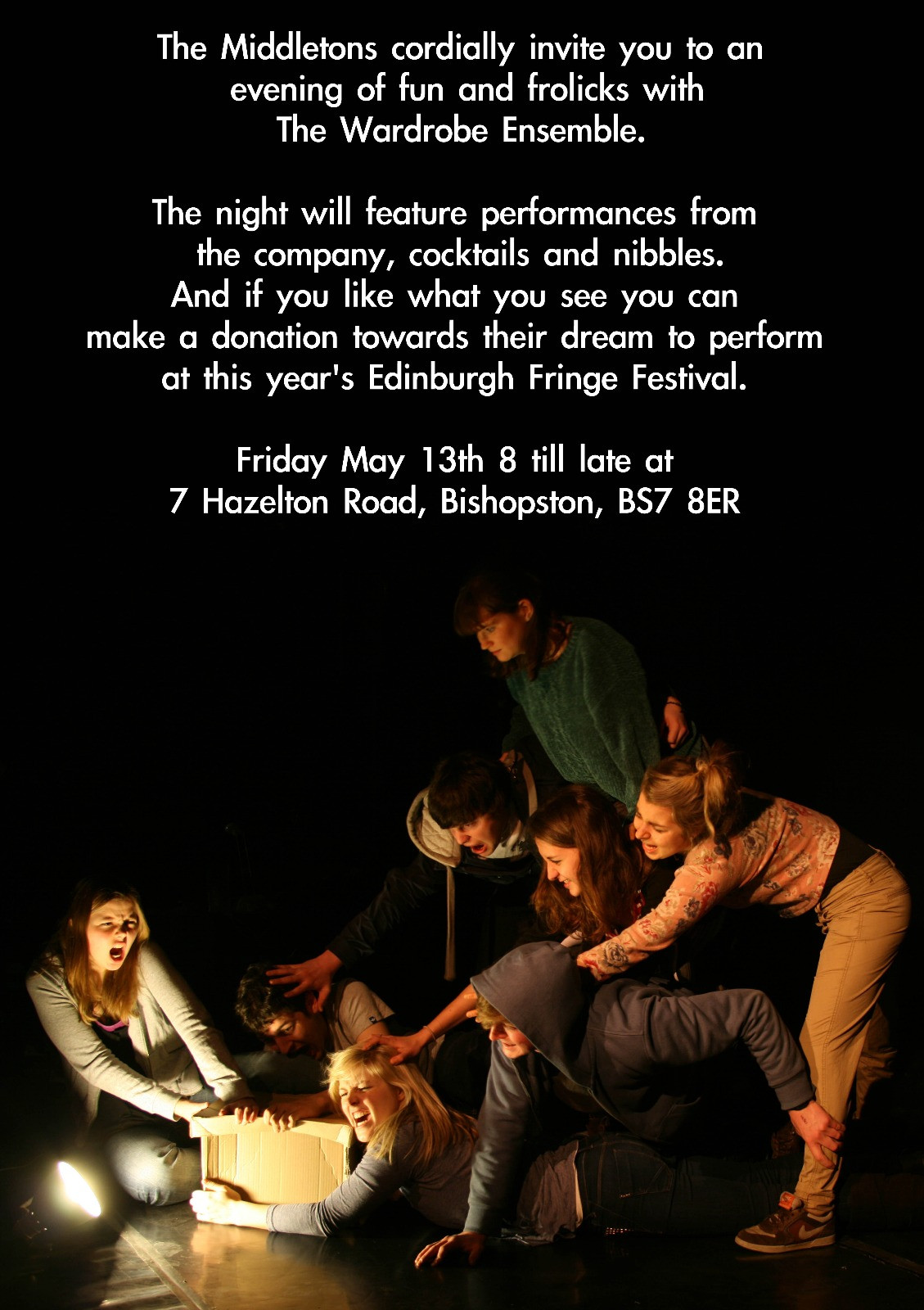 Flyer for our first fundraising evening (2011)