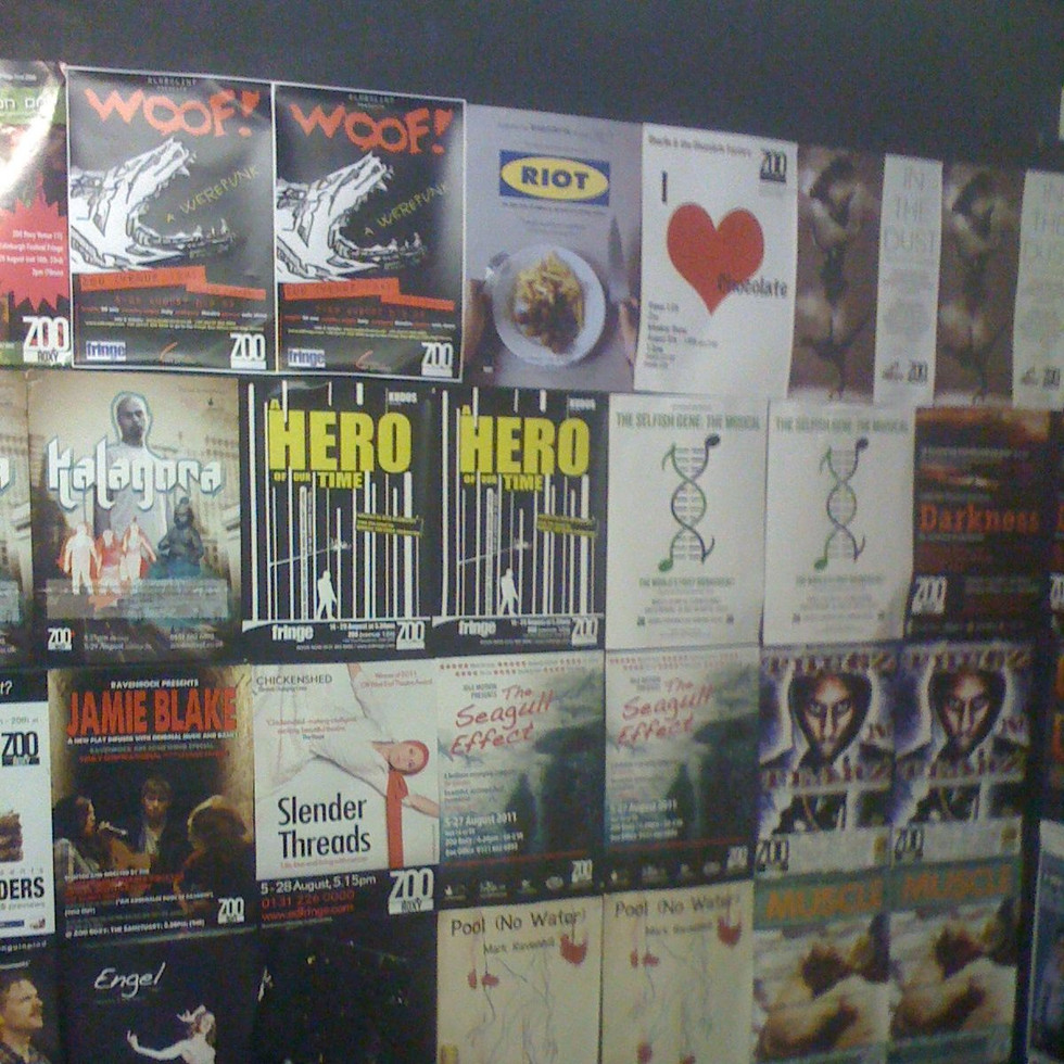 RIOT in Edinburgh (2011) - Spot the poster!