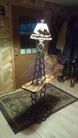 Horse Shoe Table Lamp Combo