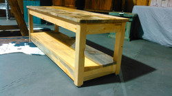 Pine End Table/Bench