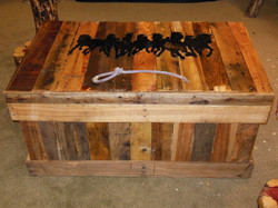 Trunk with Running Horses