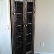 Barnwood Corner Cabinet