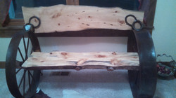 Pine Bench Straight Back 05