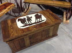 Trunk with Horse Silhoutte