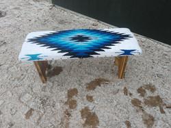 Aztec Blue Bench