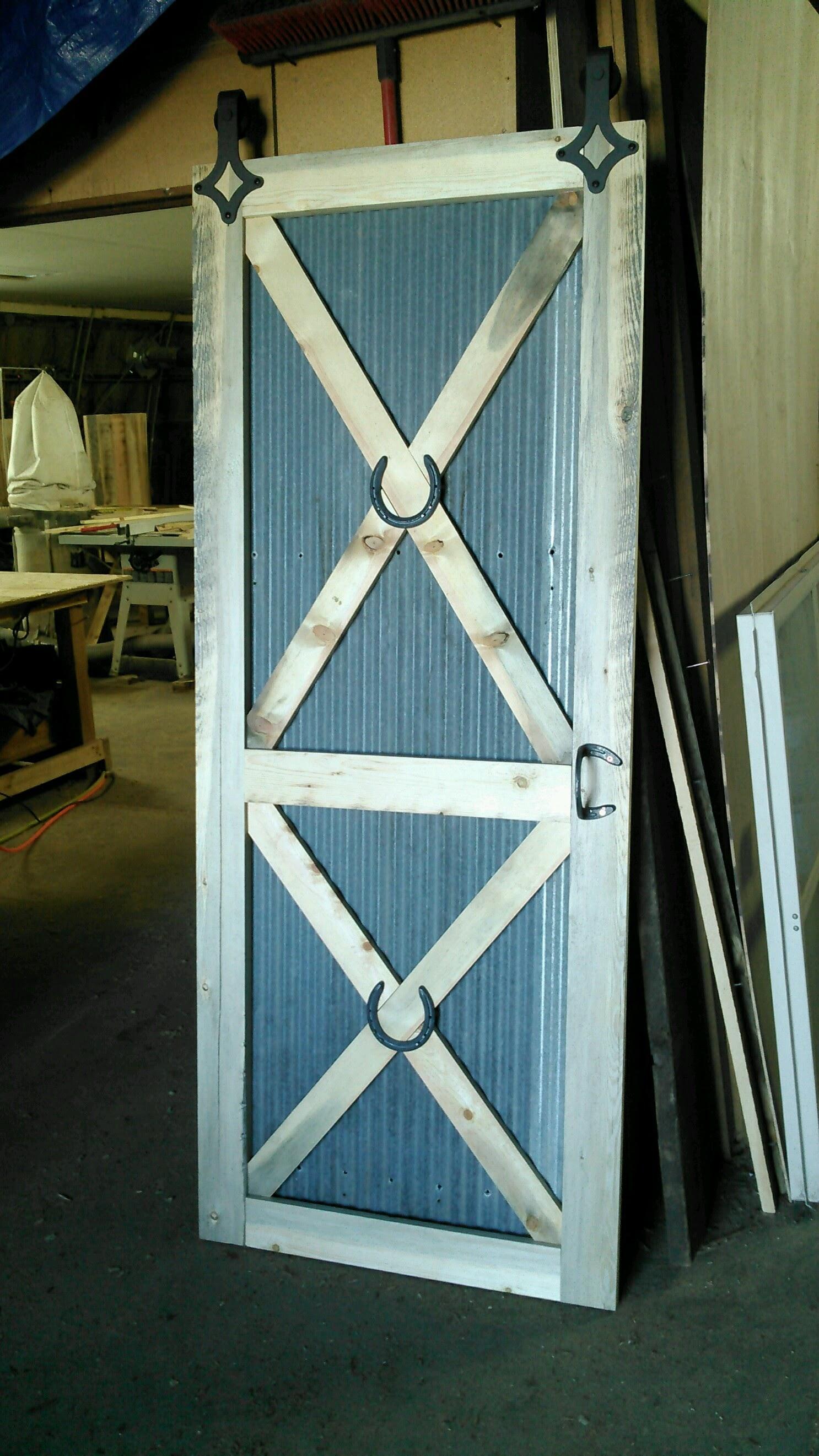 Rustic Tin Barn Door