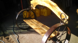 Pine Wood Arch Bench 02