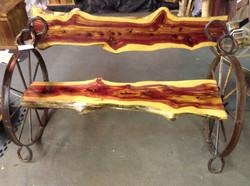 Cedar Wheel Bench 04