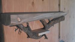 Pine mantel