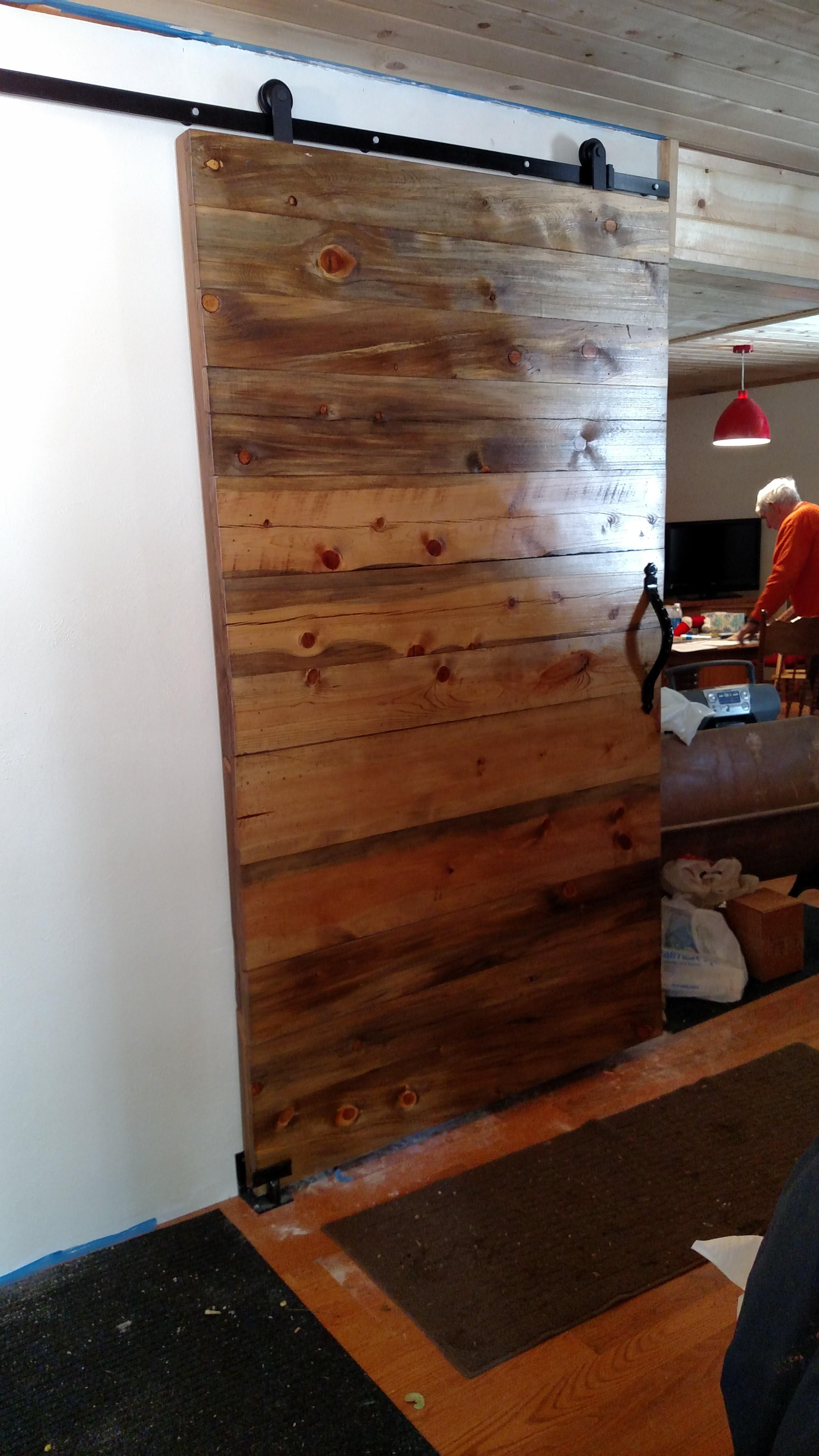 Furnace Room Barn door